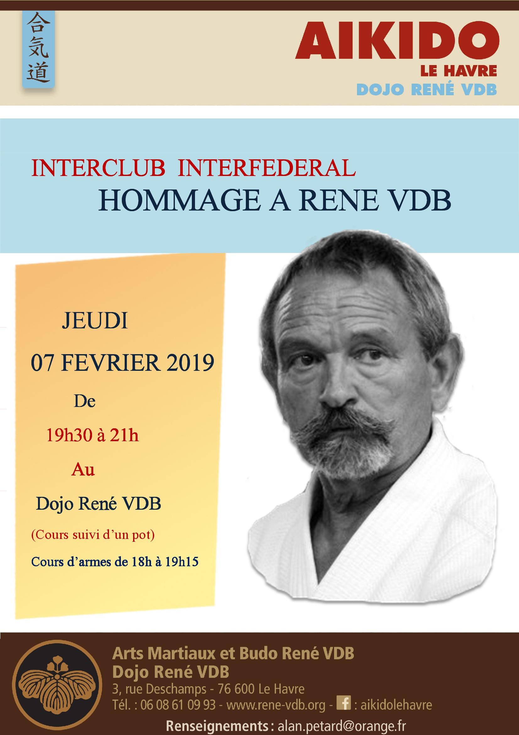 INTERCLUB : HOMMAGE A RENE VDB