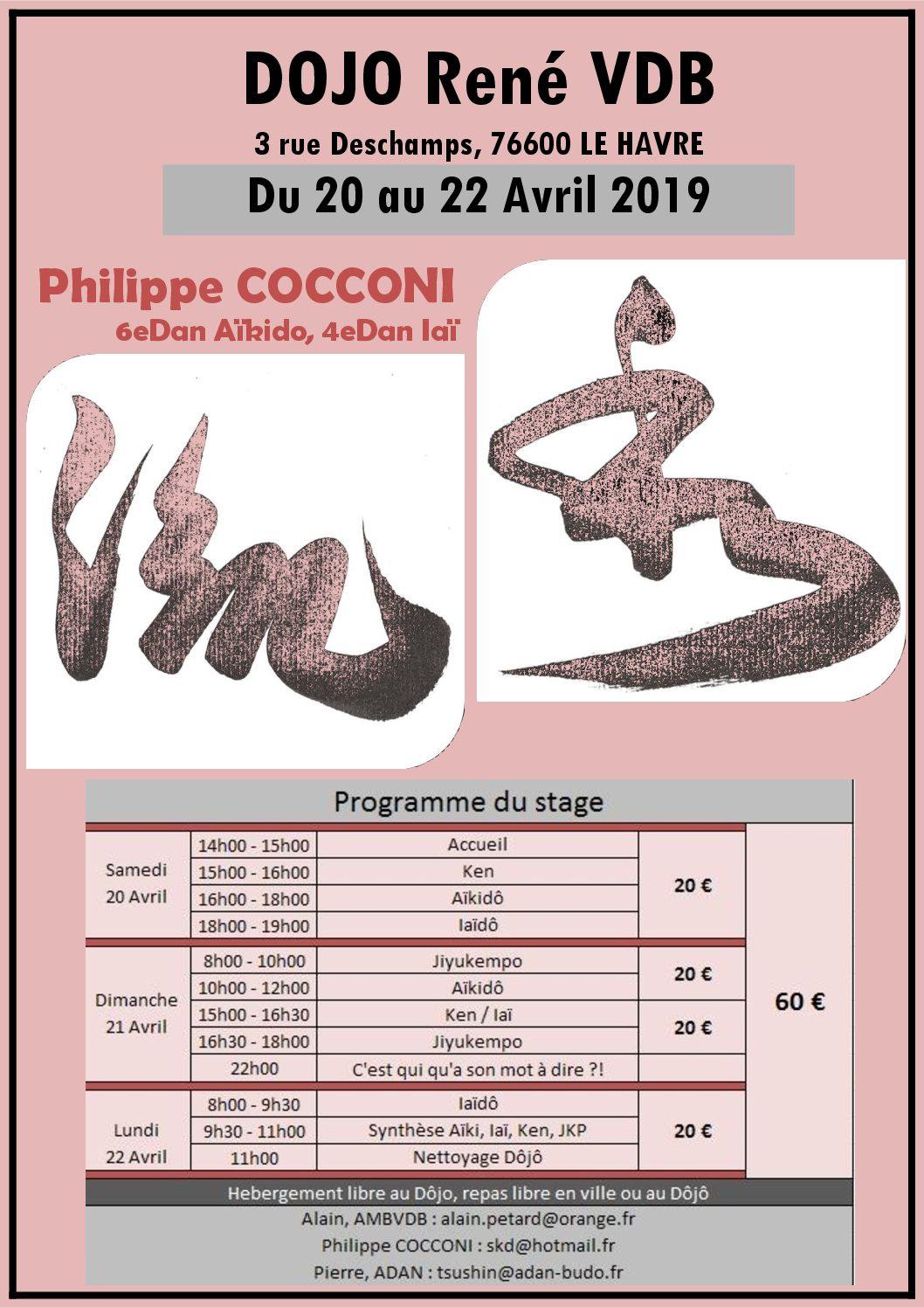 Stage de Pâques Philippe COCCONI au Havre